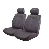 Black Bull Leather Look Seat Covers Airbag Deploy Safe - Grey Size 30 One Pair