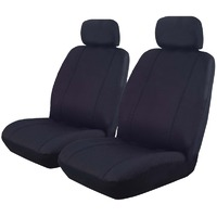 Outback Canvas Seat Covers Airbag Deploy Safe Pair Black Size 30