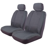 Outback Canvas Seat Covers Size 30 Airbag Deploy Safe Pair Charcoal