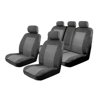Esteem Velour Seat Covers Set Suits Peugeot 4007 ST 5 Seater 4 Door Wagon 10/2009-On 2 Rows