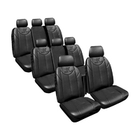 Custom Made Black Leather Look Seat Covers Hyundai iMax TQ Van 5/2011-On 3 Rows Armrest