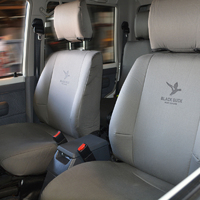 Black Duck Denim Grey Seat Covers Toyota Hiace Commuter Bus 2005-On