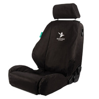Black Duck 4Elements Black Seat Covers Toyota Hilux 8th Gen Workmate Dual/Xtra Cab 7/2015-On