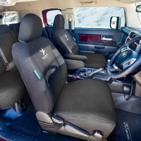 Black Duck Canvas Black Seat Covers Mitsubishi Triton Club Cab MQ/MR 3/2015-On
