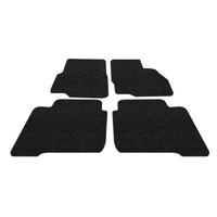 Koil Black Floor Mats Front & Rear Rubber Composite PVC Coil Universal Fit