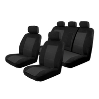 Custom Made Seat Covers Holden Colorado Crew Cab RG 9/2016-On Deploy Safe Front & Rear Black
