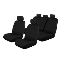 Canvas Car Seat Covers Holden Colorado Crew Cab RG 9/2016-On Airbag Safe 2 Rows Black OUT6945BLK
