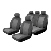 Esteem Velour Seat Covers Set Suits Volkswagen Tiguan 5N MY17 Comfortline/Highline 4 Door Wagon 5/2016-On 2 Rows No Fold-down Trays