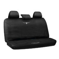 RM Williams Stockyard Canvas Waterproof Black Seat Covers Size 06 Rear Multi-zip