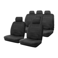 Custom Made Neoprene Wetsuit Car Seat Covers Hyundai ix35 2/2010-On Black Airbag Deploy Safe
