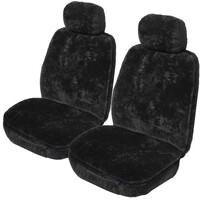 Aussiefleece 25mm Sheepskin Seat Covers 5 Years Warranty Deploy Safe Pair