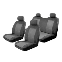 Seat Covers Set Suits Great Wall V200 Dual Cab 2012-On Esteem Velour 2 Rows