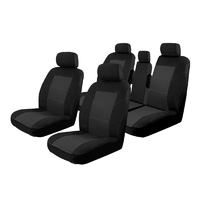 Car Seat Covers Toyota Kluger 5 Seater 8/2007-On Airbag Safe Black
