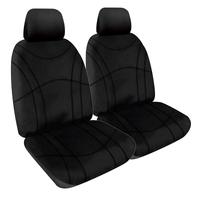 Getaway Black Neoprene Wetsuit Black Stitch Front Car Seat Covers Expander Fit Size 30 One Pair