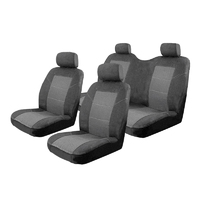 Esteem Velour Seat Covers Set Suits Great Wall V240 K2 Double Cab 7/2009-On 2 Rows