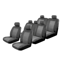 Custom Made Esteem Velour Seat Covers Land Rover Discovery Sport L550 SE/HSE Variants 4 Door Wagon 1/2015-On 3 Rows