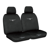 RM Williams Black Neoprene Wetsuit Black Stitch Front Car Seat Covers Size 30 One Pair