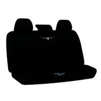 RM Williams Neoprene Black Seat Covers Size 06 Rear Multi-zip Universal Fit