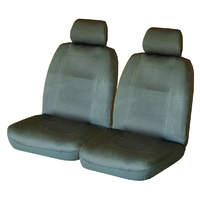 Wet N' Wild Neoprene Wetsuit Charcoal Front Car Seat Covers Size 30 Deploy Safe Charcoal Stitching One Pair
