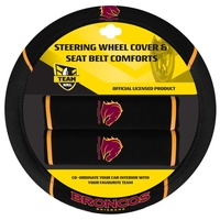Brisbane Broncos NRL Steering Wheel Cover