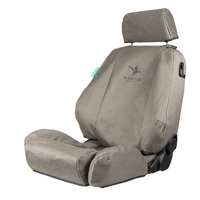 Black Duck 4Elements Grey Seat Covers Kawasaki Artic Loaders 2015-On