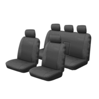 Canvas Car Seat Covers Mitsubishi Triton Dual Cab ML GLX/VR/GLX-R 7/2006-7/2009, MN 11/2011-4/2015 Deploy Airbag Safe 2 Rows